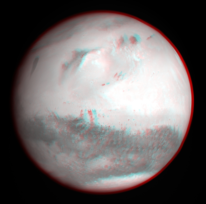Space in Images - 2007 - 02 - Mars 3D anaglyph (black & white)