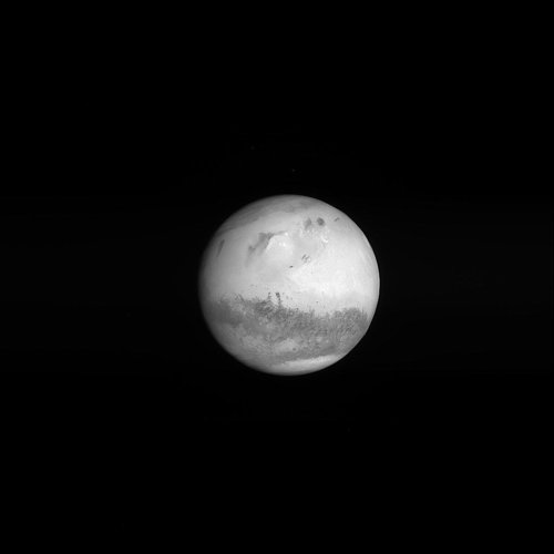 Mars seen by Rosetta on swingby approach 24 February 2007