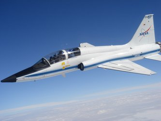 NASA T38 jet during formation flying