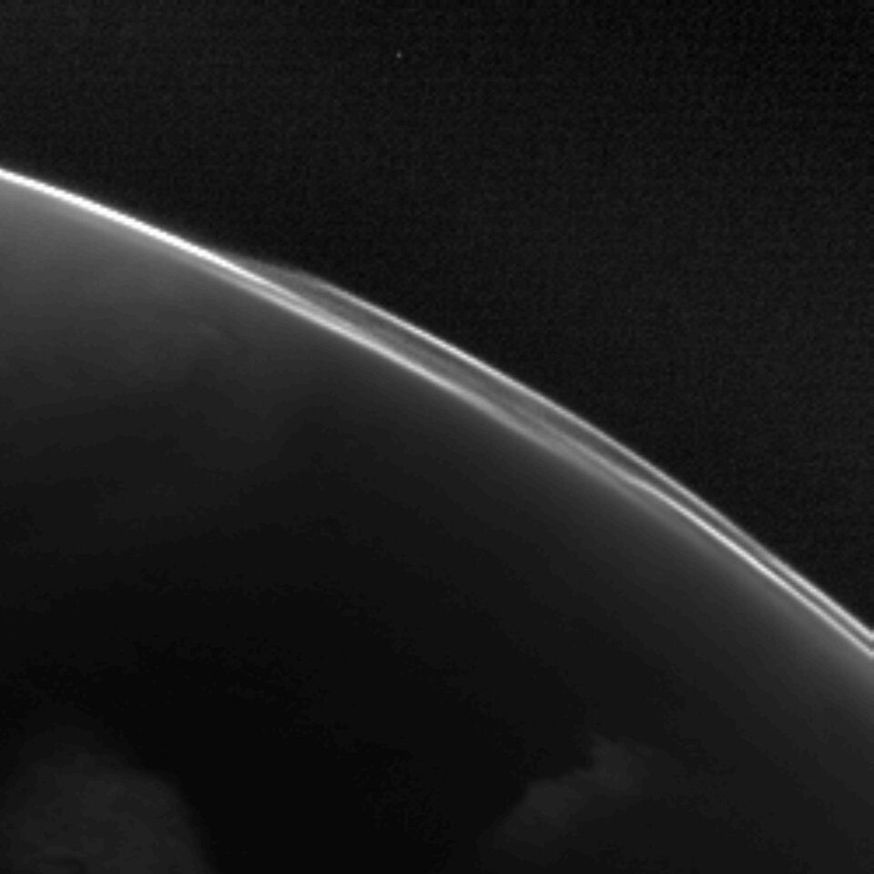OSIRIS image of atmospheric structures of Mars