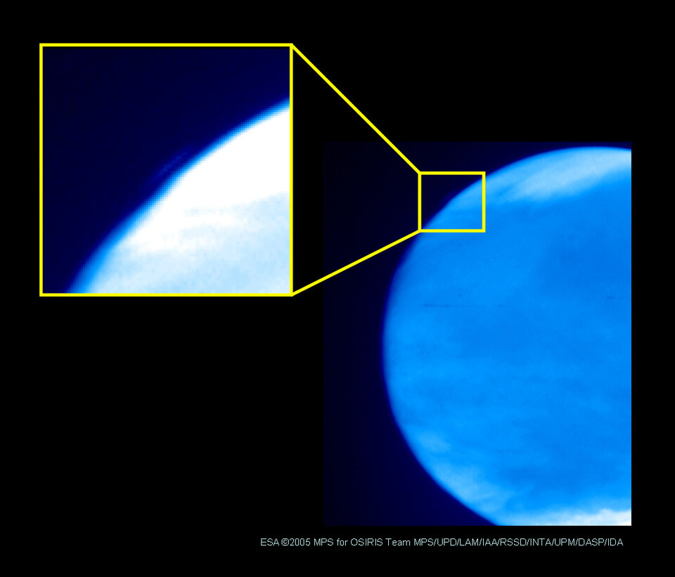 OSIRIS ultraviolet image of Mars
