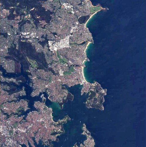 Proba image over Manly, Australia