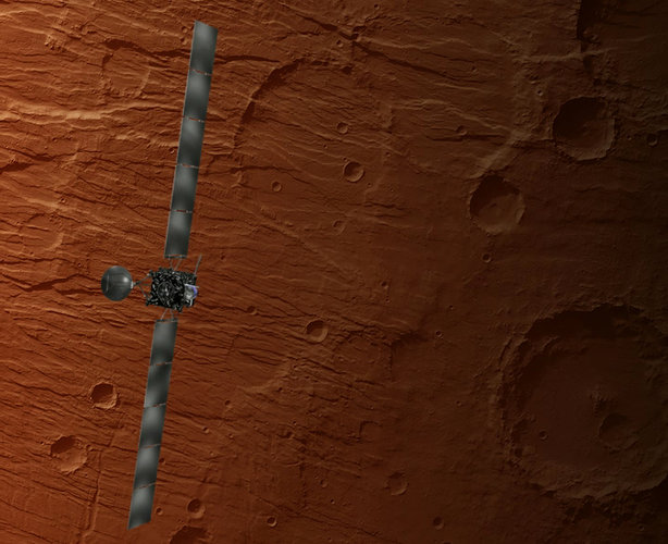 Rosetta swinging by Mars at close distance