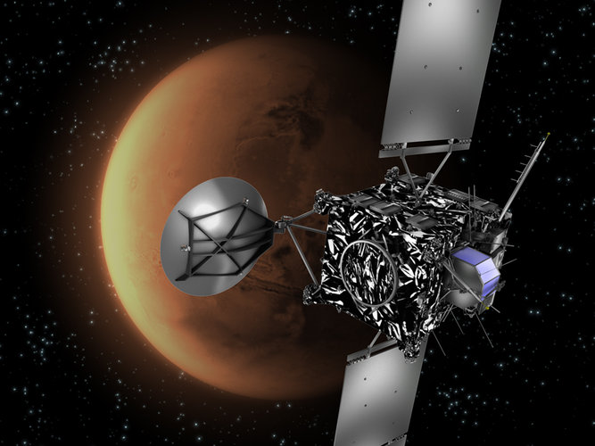 Rosetta swings by Mars