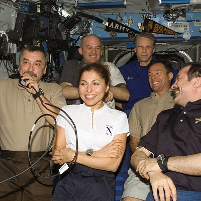 Spaceflight participant Anousheh Ansari on board ISS