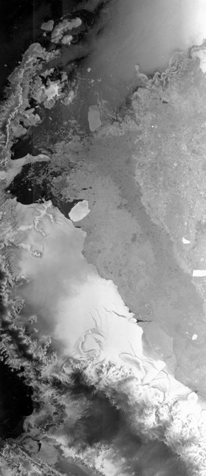 The Larsen-B Ice Shelf captured by Envisat
