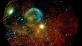 XMM-Newton view of supernova SN 1987A