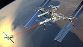 ATV docks with ISS