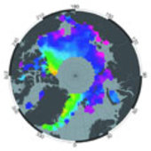 Estimated sea-ice thickness 1993-2001 from ERS-1/2