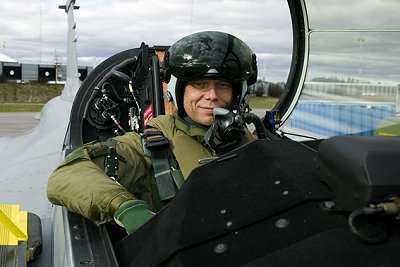Christer in aircraft