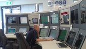 Control room at ESA's 35m deep-space tracking station DSA-1 at New Norcia, Western Australia