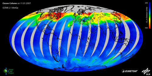 Total ozone measured by GOME-2