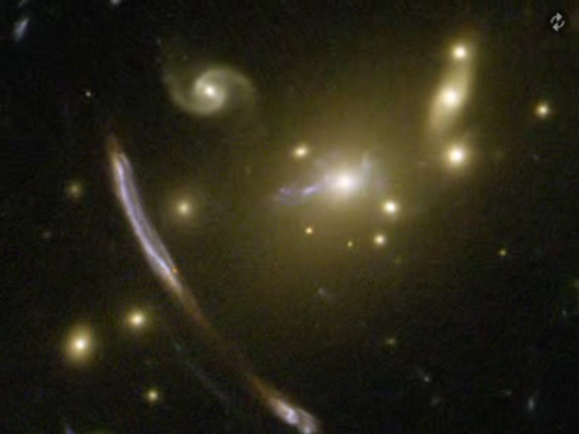 Zooming and panning on galaxy cluster Abell 2667.