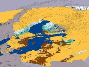 Baltic Region snow maps