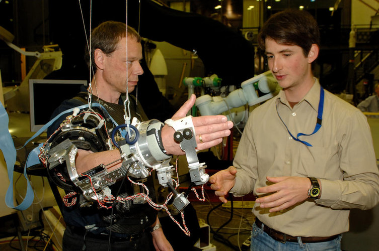 Christer Fuglesang works with Exoskeleton