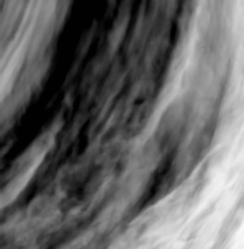 Close-up on cloud structures on Venus