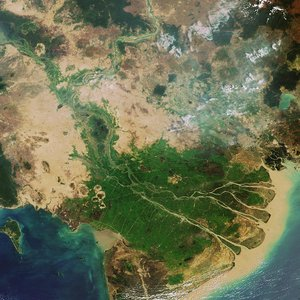 Envisat image of the Mekong Delta in Vietnam