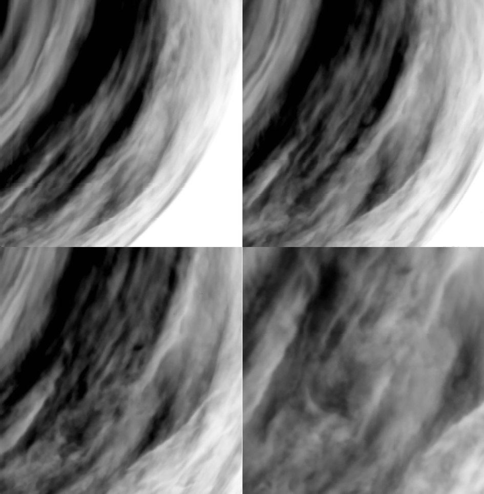 Multiple views of Venus' clouds