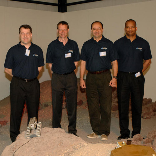 On the surface of Mars... STS-116 crewmembers visit the planetary utilisation testbed