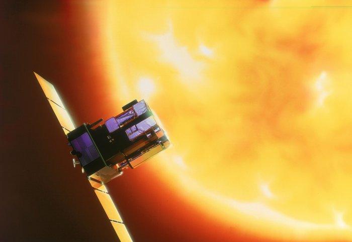 sonda SOHO - umělecká představa