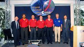 STS-116 crew reunited with Thomas Reiter at EAC