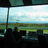 View from control tower at Limoges
