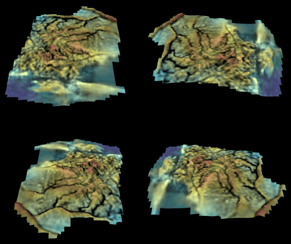 Digital terrain model of a portion of Huygens' landing region