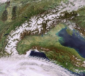Envisat image of the Alps