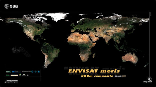 Map Of The World Satellite.Esa Presents The Sharpest Ever Satellite Map Of Earth Envisat