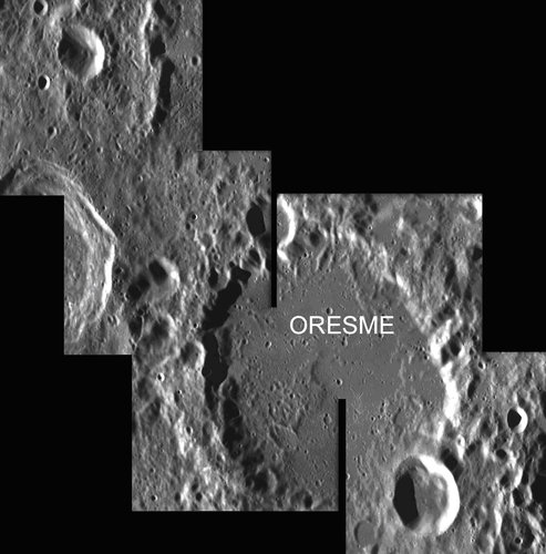 Oreseme: a crater located at the lunar south pole