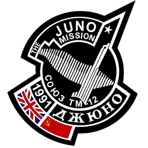 Soyuz TM-12 Juno mission patch, 1991