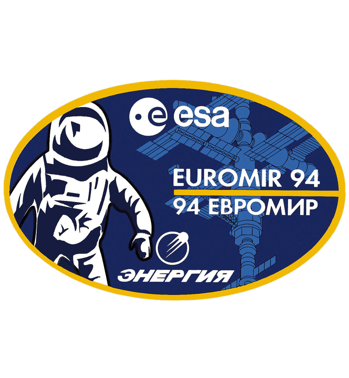 Soyuz TM-20 Euromir 94 mission patch, 1994