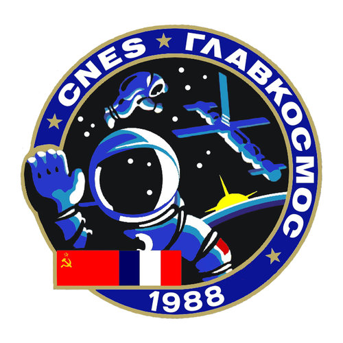 Soyuz TM-7 Aragatz mission patch, 1988