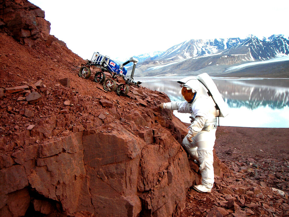 Testing Mars rovers at Svalbard