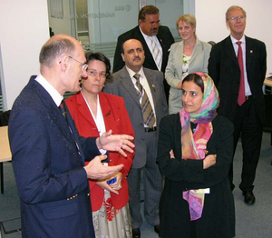 UAE Minister of Economy in ESOC's Navigation Facility