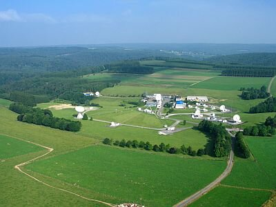 Aerial view of ESA's Redu ground station
