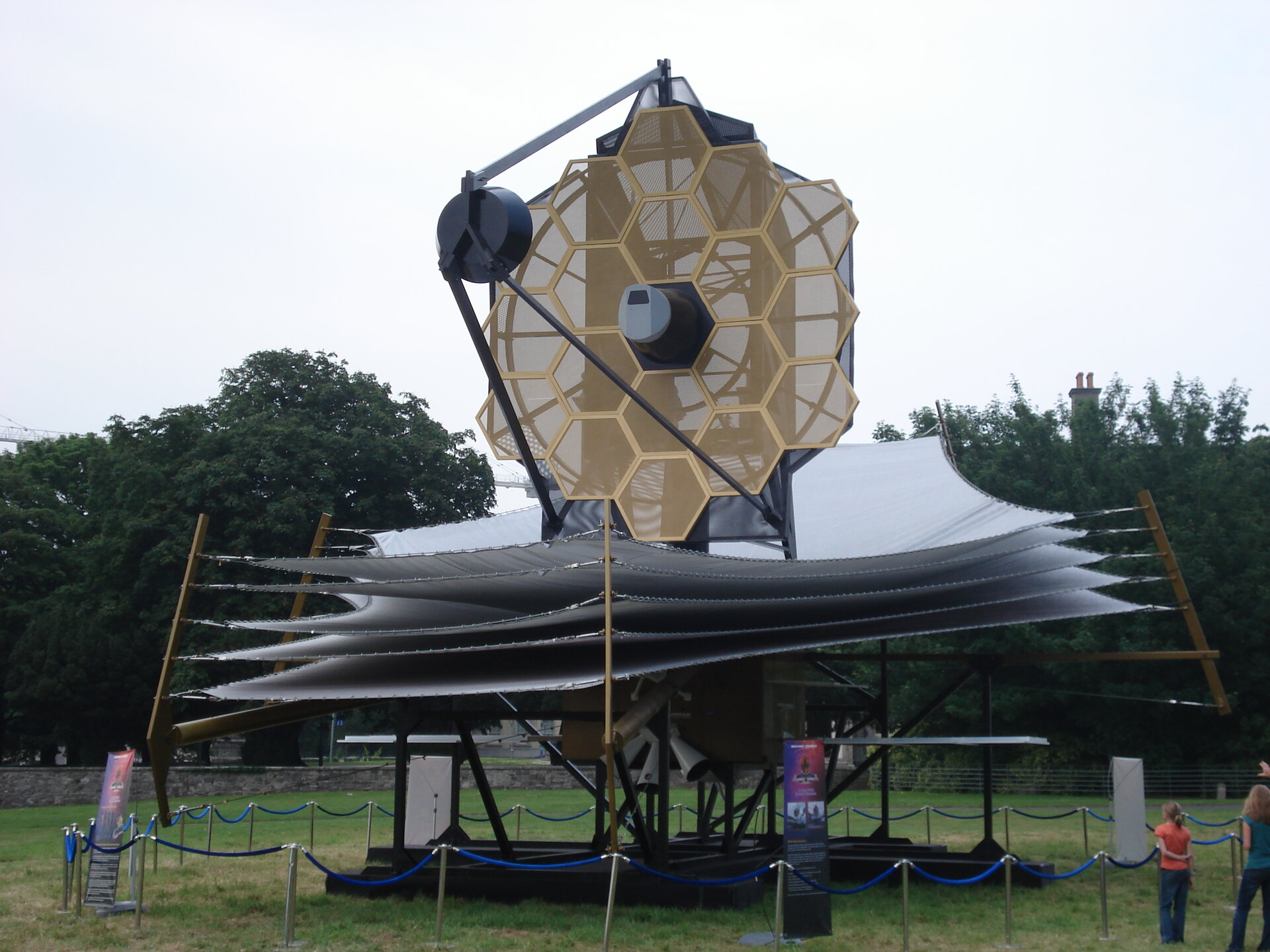 Close-up of JWST scale model