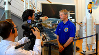 Media interview during Astrolab post-flight tour