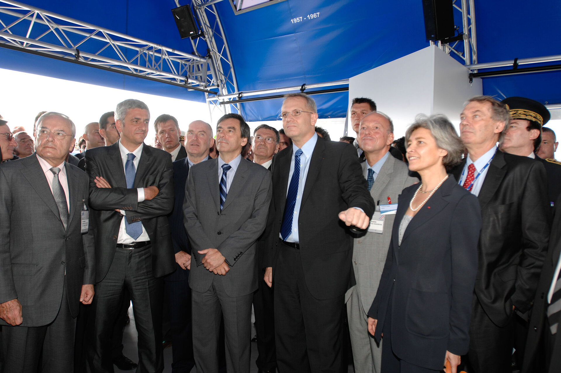 Inauguration of the Paris Air Show, Le Bourget 2007 with M. Fillon, French Prime Minister