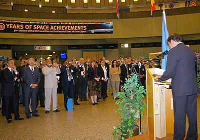 Opening ceremony of '50 Years of Space Achievement' exhibition
