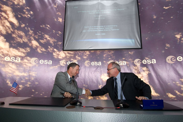 Signature of Memoranda of Understanding for JWST & LISA Pathfinder