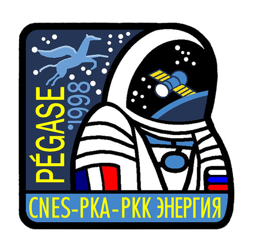 Soyuz TM-27 Pégase mission patch, 1998