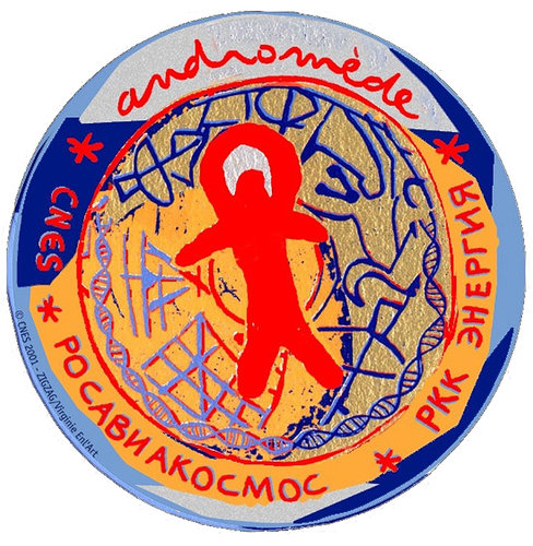 Soyuz TM-33 Andromède mission patch, 2001