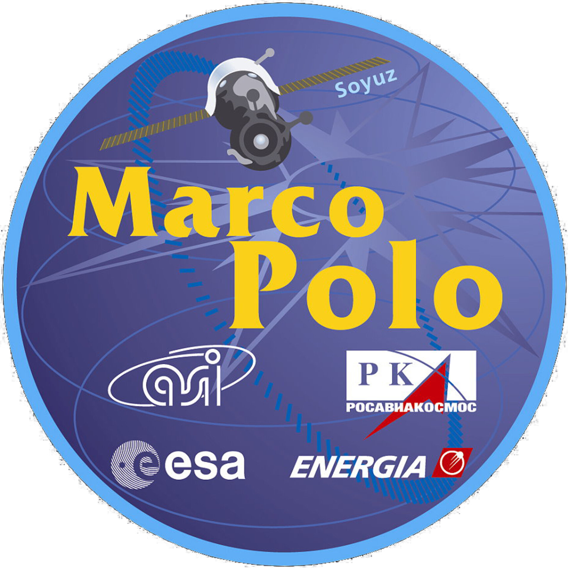 Soyuz TM-34 Marco Polo mission patch, 2002