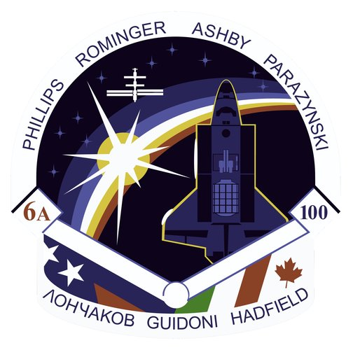 STS-100 patch, 2001
