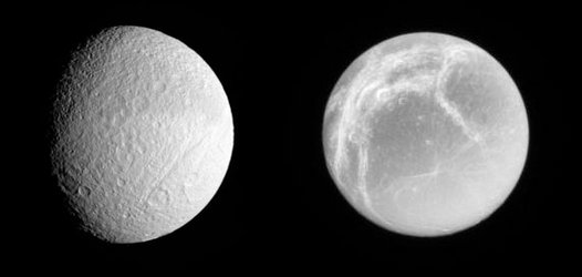 Tethys and Dione juxtaposed