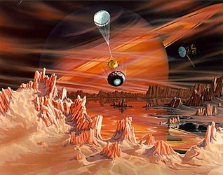 Winds on Titan - artist's impression