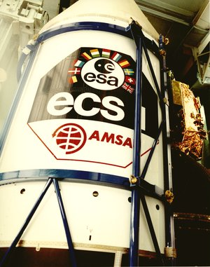 Ariane 1 fairing for ESA's ECS-1 and AMSAT's P3B