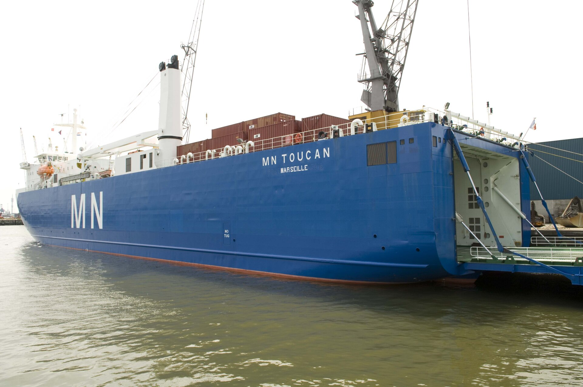 French cargo ship MN Toucan set sail for Kourou at around 15:30 CEST on Tuesday 17 July 2007