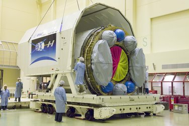 ICC section of ATV spacecraft is carefully packed
